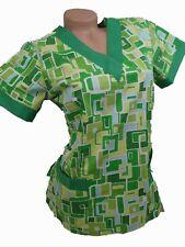 New Women Nursing Scrub GreenCotton TopSize XS