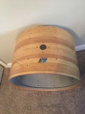 """New ListingVintage Ludwig 14"""" x 22"""" 3 ply bass drum shell in butcher block finish"""