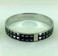"Calvin Klein Glint Bangle, Black Hematite Crystal, 7""/18cm, RRP £75"