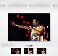Freddie Mercury - 6 - Quadro stampa su Tela Pelle Canvas Dipinto Arte Moderna