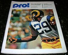 1973 NEW YORK GIANTS vs ST LOUIS CARDINALS NFL PROGRAM Johnny Unitas article VG