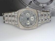 Bulova 96C002 Swarovski Crystal Silver Tone Day-Date Dress Men's Watch