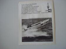 advertising Pubblicità 1966 CHAMPION e HOWARD WELLER