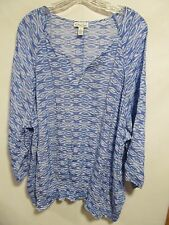Kim Rogers women plus size 3X Blue Short sleeve Lot#21