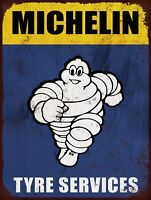 """Michelin Tyres 10x8""""  Retro Vintage Metal Sign Plaque Advertising Wall Art Pic"""