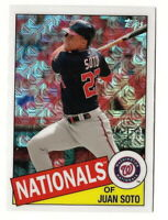 2020 TOPPS SERIES 1 JUAN SOTO 1985 TOPPS SILVER PACK CHROME CARD (NATIONALS)