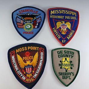MISSISSIPPI MS Police Sheriff's Highway Patrol Starkville Moss Point De Soto LOT