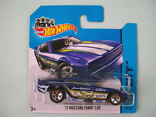 Hot Wheels 2014 HW City - '71 MUSTANG FUNNY CAR #99/250 Short Card New In Packet