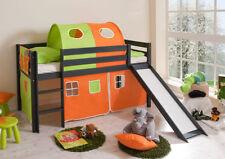Kinder-Bettgestelle ohne Matratze aus Kiefer zum Zusammenbauen in Grau