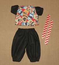 "Handmade Doll Clothes for 12"" - 14"" Baby Dolls - ""Vroom"" Boys Pants & Shirt Set"