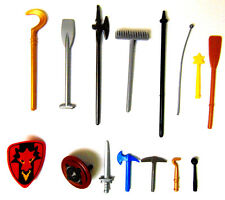 Playmobil Lot of 15 Replacement Parts Weapon Shield Sword Pick Spear FREE SHIP