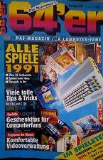 64er (64´er) 12/91 Dezember 1991 C64 Commodore (Alle Spiele 91) + Orig Diskette
