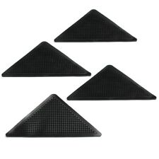 4pcs Rug Carpet Mat Grippers Non Slip Corners Pad Anti Skid Washable Silico B3E1