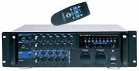 200W Digital Key Control Vocal Mixing Amplifier w/Bluetooth Receiver and Remo...