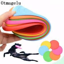 Funny Silicone Flying Saucer Dog Cat Toy  Game Flying Discs Resistant Chew Puppy