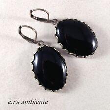 Ohrringe mit Glas-Cabochons, Ohrhänger, 0873
