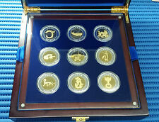 2008 China Beijing Olympic Games 9 pcs Chinese Dragon Gold and Silver Medallion