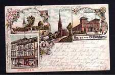 111485 AK Oldenburg um 1900 Litho Turnhalle des Turnerbundes Kirche Geschäftshau