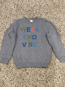 Gymboree Gray Weekend Vibe Sweater Boys Size 7-8 EUC