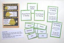 Teacher Made Literacy Center Learning Resource Game Singular Plural Nouns