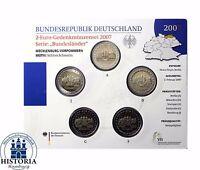 Deutschland Schweriner Schloss 5 x 2 Euro Stempelglanz 2007 PP Mzz A; D; F; G; J