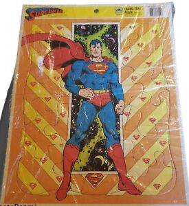 1989 Superman Frame-Tray Puzzle Golden 4552B-15