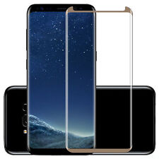 100 Pcs Gold For Samsung Galaxy S8 Tempered Glass Screen Protector Anti-Scratch