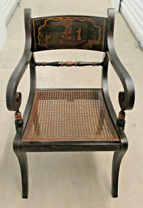 Painted Regency Chair Historic Charleston Collection by Baker Furniture