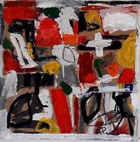 ALEXANDRE PONS/Abstrait contemporain  pièce unique format 40x40 cm