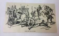 1887 magazine engraving ~ Polo ~ Ponies Not Well In Hand