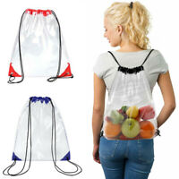 Transparent Waterproof Drawstring Backpack PVC Beach Bag Storage Pouch Travel