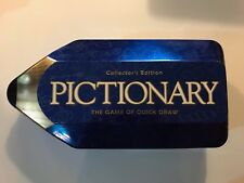 Pictionary Collector's Edition Board Game 2001 Complete Nice Condition Tin