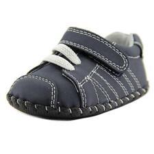 Calzado azul de piel para bebés
