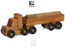 Barrel Delivery Truck - Wood Tractor Trailer & Cargo Load Amish Handmade in Usa