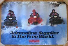"New listing Vintage Yamaha Snowmobile Dealer Poster Original 24""x36"" V-Max, Not Reproduction"