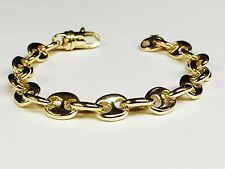10kt solid gold Anchor Mariner chain/Bracelet 10 MM 35 grams  8.5""