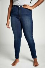 Cotton On Womens Curve Tall Adrianna Skinny High Jean Curve  In  Blue