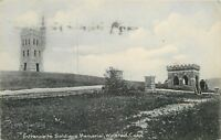 Winsted Connecticut~Soldiers Memorial~Stone Entrance~1908 Postcard