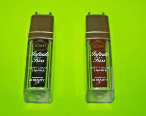 (2) JOAH Infinite Kiss Satin Liquid Lipstick #JCL10 Besame & #JCL 06 Snog Sealed