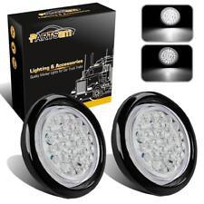 """2PC 4"""" Round Backup Reverse Fog Lights w/Rubber Mount 30 LED Truck Trailer White"""