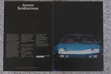 Original Werbung Porsche 928