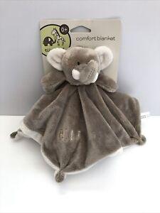 Elli and Raff Comfort Blanket ELLI Elephant Light Brown Fawn Comforter Blankie