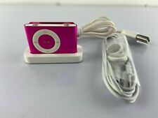 Apple A1204 Pink iPod Shuffle 2nd Gen.1GB w/ Headphones & Lighting Cable Bundle