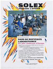 PUBLICITE ADVERTISING 114 1962 SOLEX prépare l'avenir