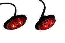 Oval LED RED Stop Brake Marker Lights Project Motorbike Motorcycle Scooter