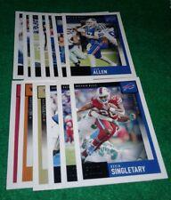 2020 Score Buffalo Bills Team Set, Josh Allen 17 cards 5 RC