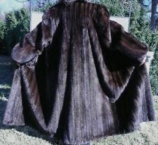 Ridotto! marrone scuro in mogano Mink fur coat/giacca taglia media e grande 10-14