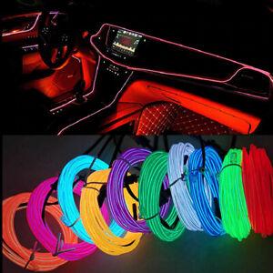 Neon LED Fairy Light Strip String Tube EL Wire USB Car Lamp Bulb Ligera Luz CBeT