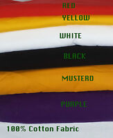 Plain Coloured Dress Craft 100% Cotton Poplin Fabric Summer dress many color