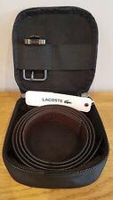 Lacoste Mens Genuine Black & Brown Leather Reversible Belt